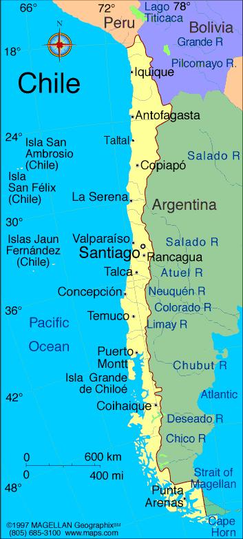Norra Chile Karta